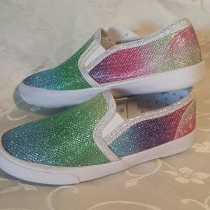 NWT toddler girl -Valtera rainbow' sneakers